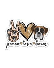 Peace love boxer Sticker - Single (Vertical) front