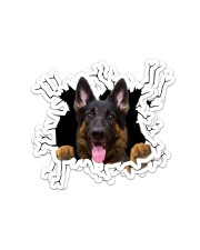 German Shepherd Crack Sticker - 4 pack (Vertical) front