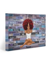 I am black 20x16 Gallery Wrapped Canvas Prints front