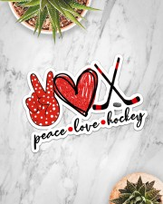 Peace Love Hockey Red And Black Sticker - Single (Horizontal) aos-sticker-single-horizontal-lifestyle-front-06