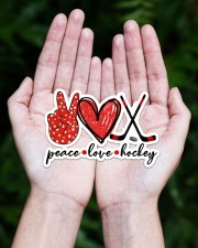 Peace Love Hockey Red And Black Sticker - Single (Horizontal) aos-sticker-single-horizontal-lifestyle-front-20