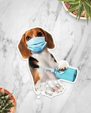 Beagle wash hands Sticker - Single (Vertical) aos-sticker-single-vertical-lifestyle-front-06