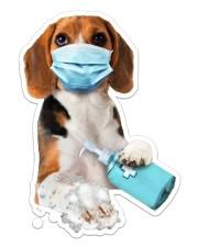 Beagle wash hands Sticker - Single (Vertical) front