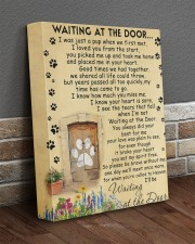 Dog Waiting At The Door 11x14 Gallery Wrapped Canvas Prints aos-canvas-pgw-11x14-lifestyle-front-10