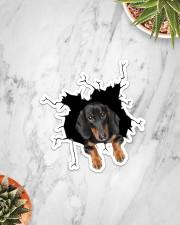 Dachshund Crack Sticker - Single (Vertical) aos-sticker-single-vertical-lifestyle-front-06