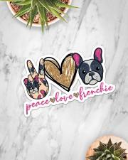 Peace love frenchie Sticker - Single (Horizontal) aos-sticker-single-horizontal-lifestyle-front-06