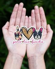 Peace love frenchie Sticker - Single (Horizontal) aos-sticker-single-horizontal-lifestyle-front-20