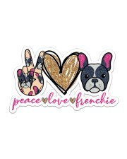 Peace love frenchie Sticker - Single (Horizontal) front