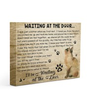 Cat will be waiting At The Door 14x11 Gallery Wrapped Canvas Prints front