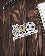Peace Love Soccer Sticker - Single (Vertical) aos-sticker-single-vertical-lifestyle-front-05