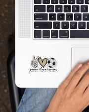 Peace Love Soccer Sticker - Single (Vertical) aos-sticker-single-vertical-lifestyle-front-11