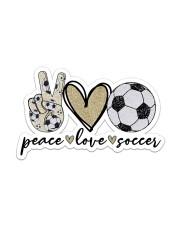 Peace Love Soccer Sticker - Single (Vertical) front