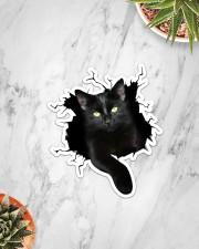 Black Cat Crack Sticker - Single (Vertical) aos-sticker-single-vertical-lifestyle-front-06