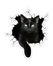 Black Cat Crack Sticker - Single (Vertical) front
