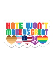 Hate won't make us great Sticker - Single (Vertical) front