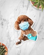 Poodle wash hands Sticker - Single (Vertical) aos-sticker-single-vertical-lifestyle-front-06