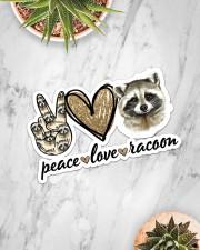 Peace Love Racoon Sticker - Single (Horizontal) aos-sticker-single-horizontal-lifestyle-front-06