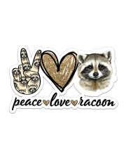 Peace Love Racoon Sticker - Single (Horizontal) front