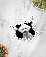 Bichon Frise Crack Sticker - Single (Vertical) aos-sticker-single-vertical-lifestyle-front-06