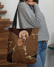 Poodle  All-over Tote aos-all-over-tote-lifestyle-front-09