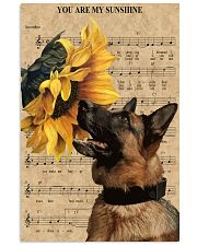 German Shepherd You Are My Sunshine 11x17 Poster front