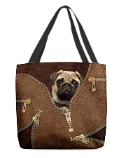 Pug All-over Tote back