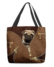 Pug All-over Tote front