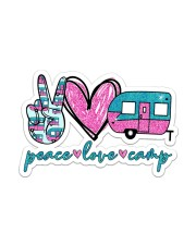 Peace love camp Sticker - Single (Vertical) front