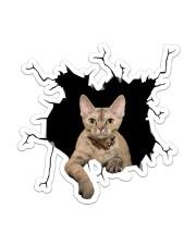 Devon Rex Sticker - Single (Vertical) front