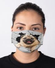 Pug Crack Cloth face mask aos-face-mask-lifestyle-01