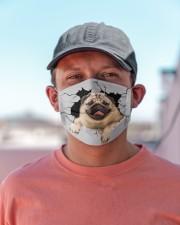 Pug Crack Cloth face mask aos-face-mask-lifestyle-06