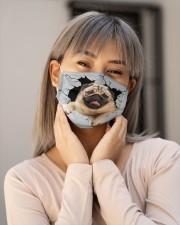 Pug Crack Cloth face mask aos-face-mask-lifestyle-17