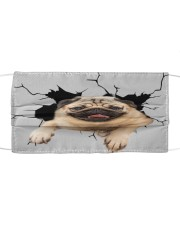 Pug Crack Cloth face mask front