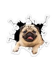 Pug Crack Sticker tile