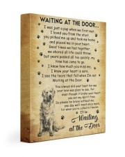 I'll be waiting at the Door Golden Retriever 11x14 Gallery Wrapped Canvas Prints front
