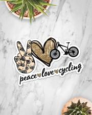 Peace Love  Cycling Sticker - Single (Horizontal) aos-sticker-single-horizontal-lifestyle-front-06