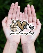 Peace Love  Cycling Sticker - Single (Horizontal) aos-sticker-single-horizontal-lifestyle-front-20
