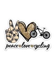 Peace Love  Cycling Sticker - Single (Horizontal) front