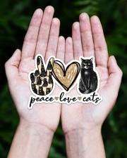 Peace love black cat Sticker - Single (Horizontal) aos-sticker-single-horizontal-lifestyle-front-20