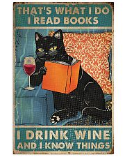 I Read Books I Drink Wine 11x17 Poster front