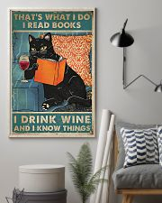 I Read Books I Drink Wine 11x17 Poster lifestyle-poster-1