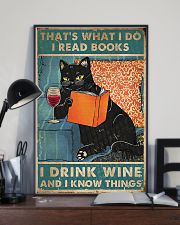 I Read Books I Drink Wine 11x17 Poster lifestyle-poster-2