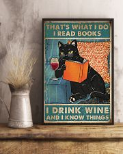 I Read Books I Drink Wine 11x17 Poster lifestyle-poster-3