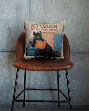 Black Cat-Wine Square Pillowcase aos-pillow-square-front-lifestyle-04