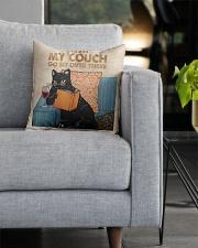 Black Cat-Wine Square Pillowcase aos-pillow-square-front-lifestyle-05
