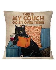 Black Cat-Wine Square Pillowcase front