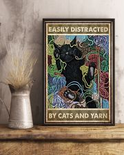 Easily distracted by cats and yarn 11x17 Poster lifestyle-poster-3