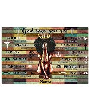 God says your are 36x24 Poster front