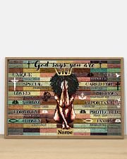 God says your are 36x24 Poster poster-landscape-36x24-lifestyle-03