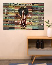 God says your are 36x24 Poster poster-landscape-36x24-lifestyle-22